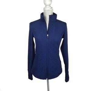 Fila sport navy blue zip up jacket